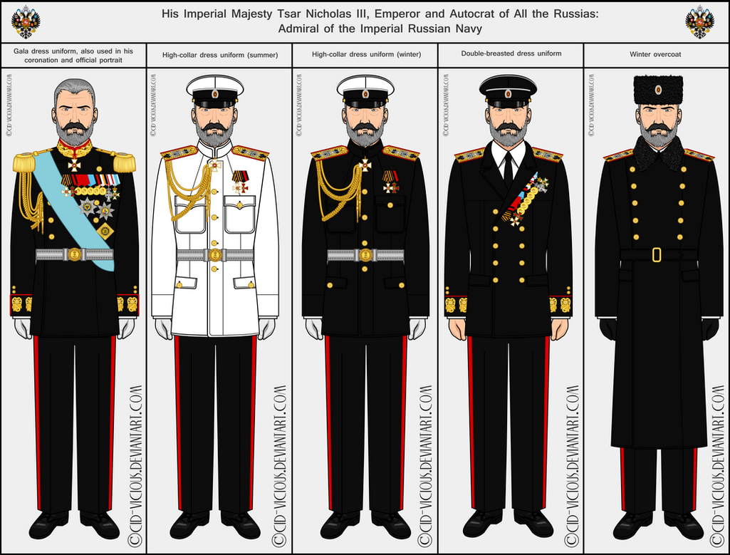 Tsar Nicholas III - Navy uniforms by Cid-Vicious on DeviantArt