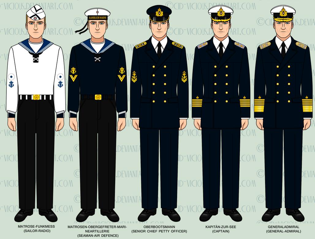 WIP - Kaiserliche Marine Parade Uniforms by Cid-Vicious