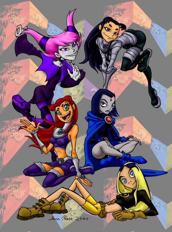 Teen Titans pinup by bonnieslashfiend