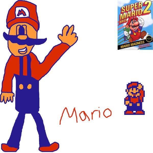 Super Mario Bros. 2 Mario by LuigiStar445