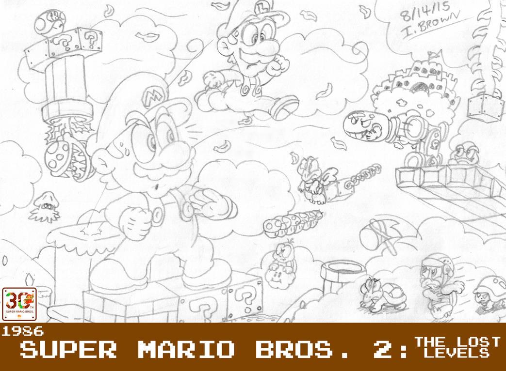 MOSM - Super Mario Bros  2: The Lost Levels by LuigiStar445