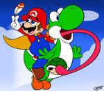 A Jump-Man and His Dinosaur