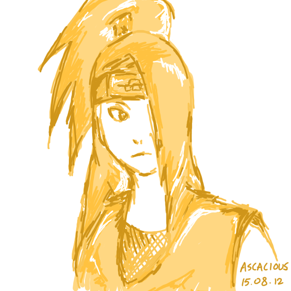 [4 Colour Challenge] Deidara - Dreary by CFA09