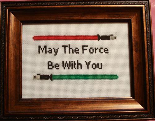 Star Wars Cross-Stitch by Clawdee
