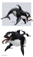 DOLPHIN AND VENOM by QNAMAN
