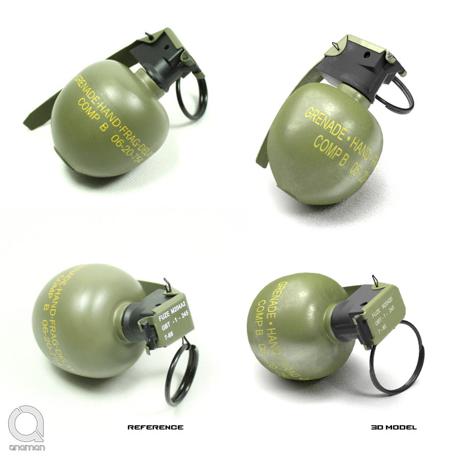Hand grenade m67 by QNAMAN