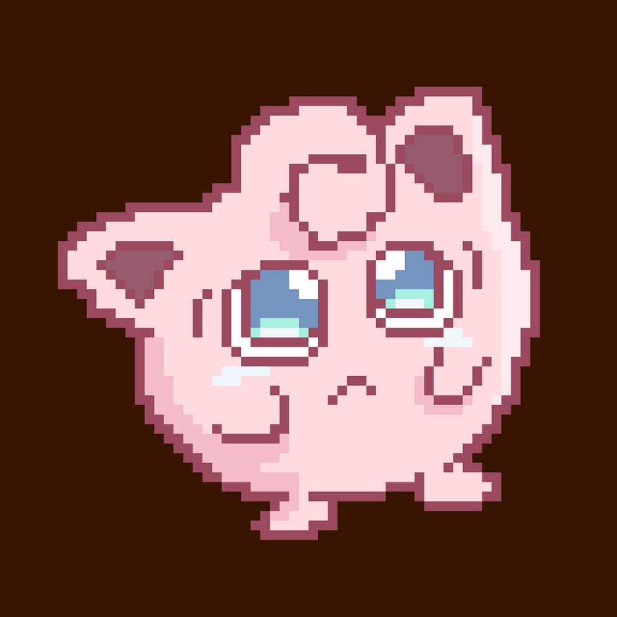 Pixel art recreation of [Sad Jigglypuff] by Lineon-RL