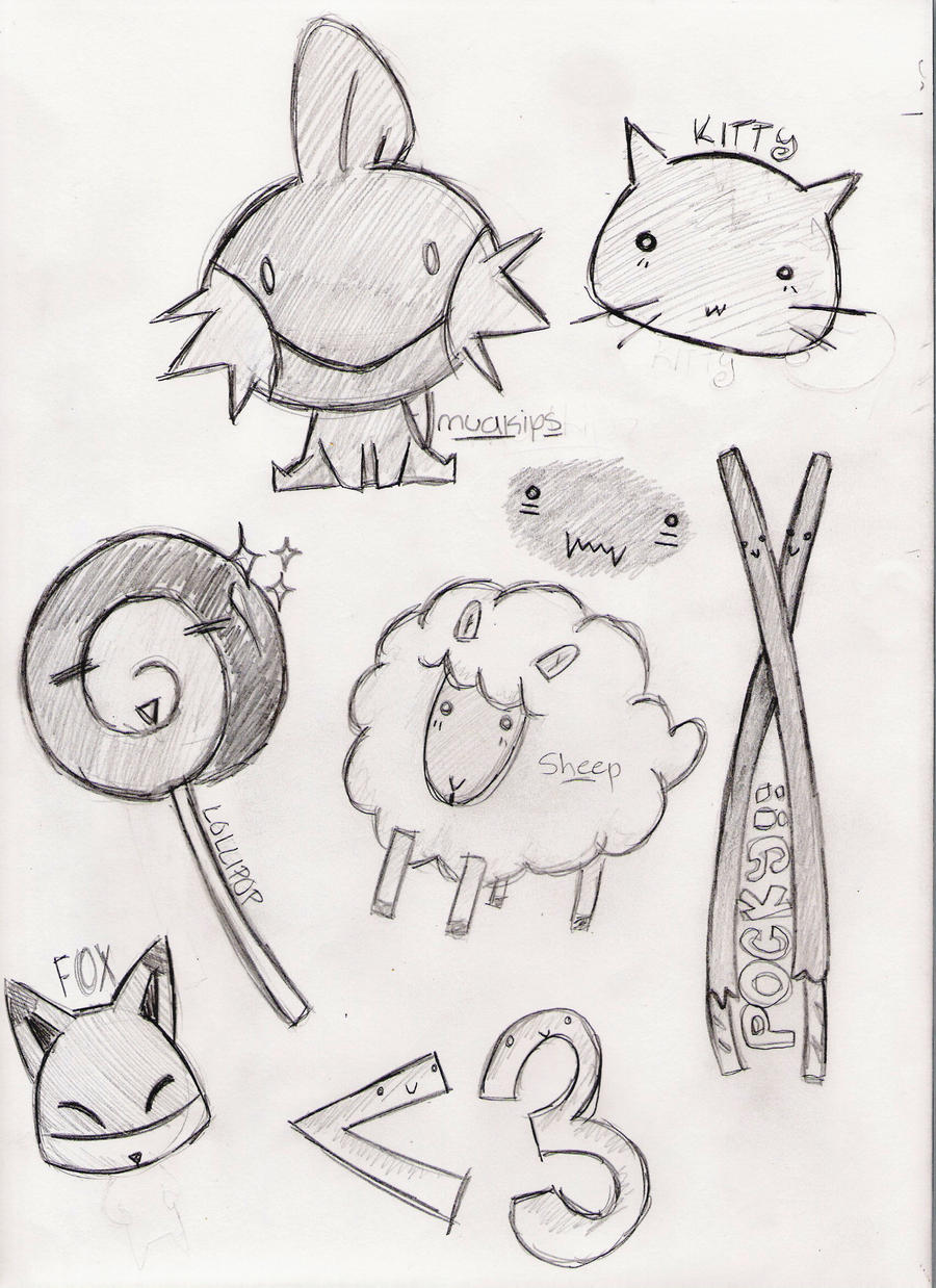 Cute drawings of random things the for Crazy stuff to draw