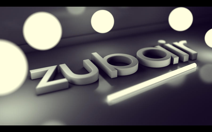 3d Name Wallpapers Zubair Czarny Mazak