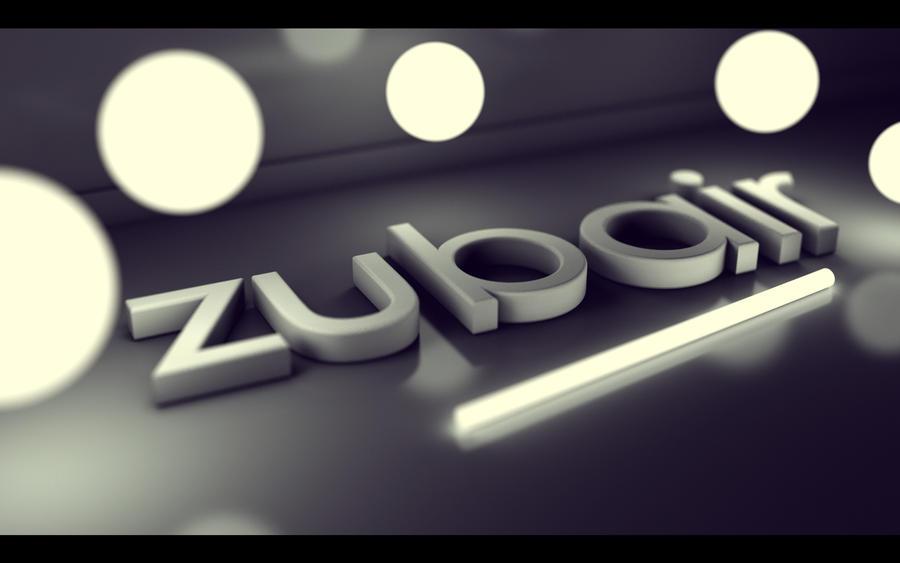 3d Name Wallpapers Zubair - CZARNY-MAZAK