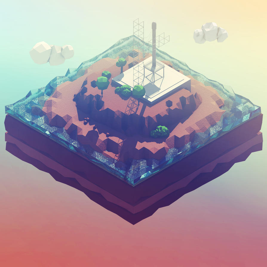 Miniature Landscapes of Science - Launchpad by thezoob