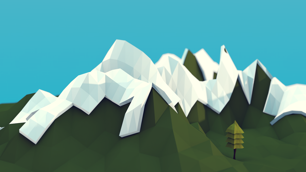 Low poly Landscape by thezoob