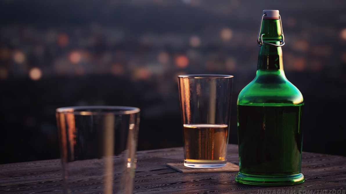Photo-realistic Bottle by thezoob