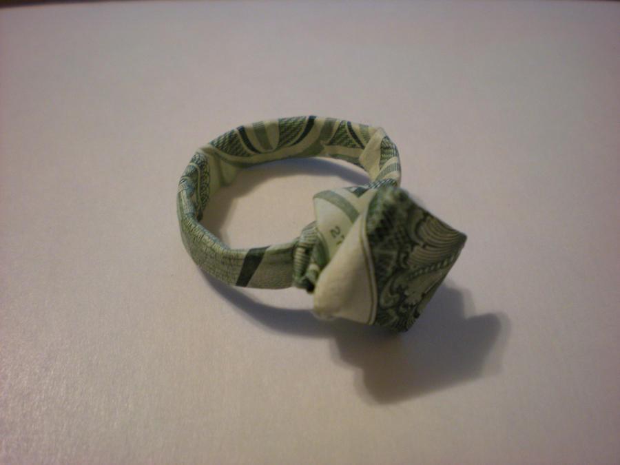 $1 Dollar Origami Diamond Ring - YouTube | 675x900