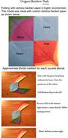 Origami Rainbow Dash Head