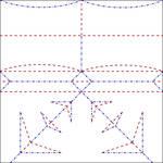 Origami Trojan Helmet Crease Pattern by Cahoonas