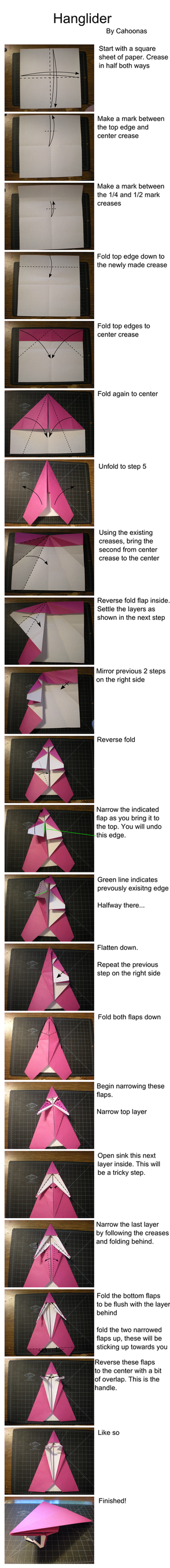 how to make an origami circular glider step by step