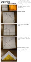 Functional Origami Dip Pen Instructions