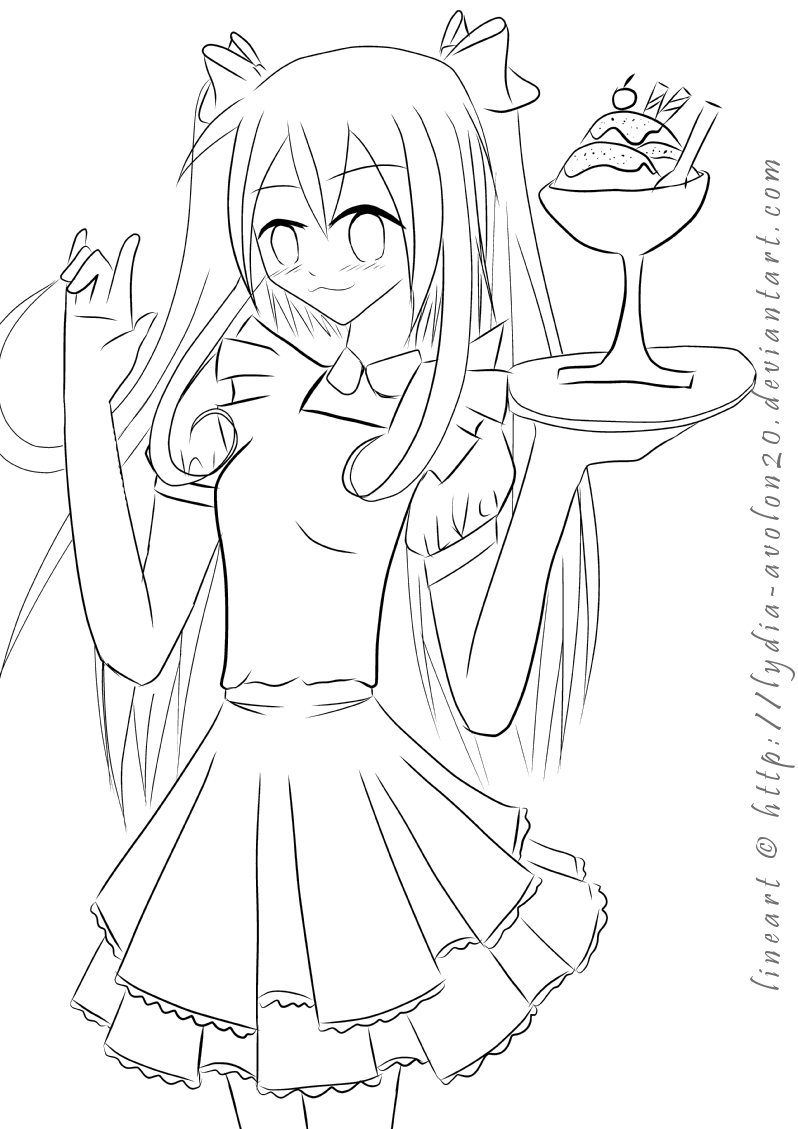 Maid lineart by lydia avolon20 on deviantart for Lydia coloring page