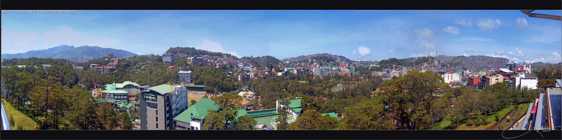 BAGUIO CITY PANORAMA VIEW by clarenceangelo