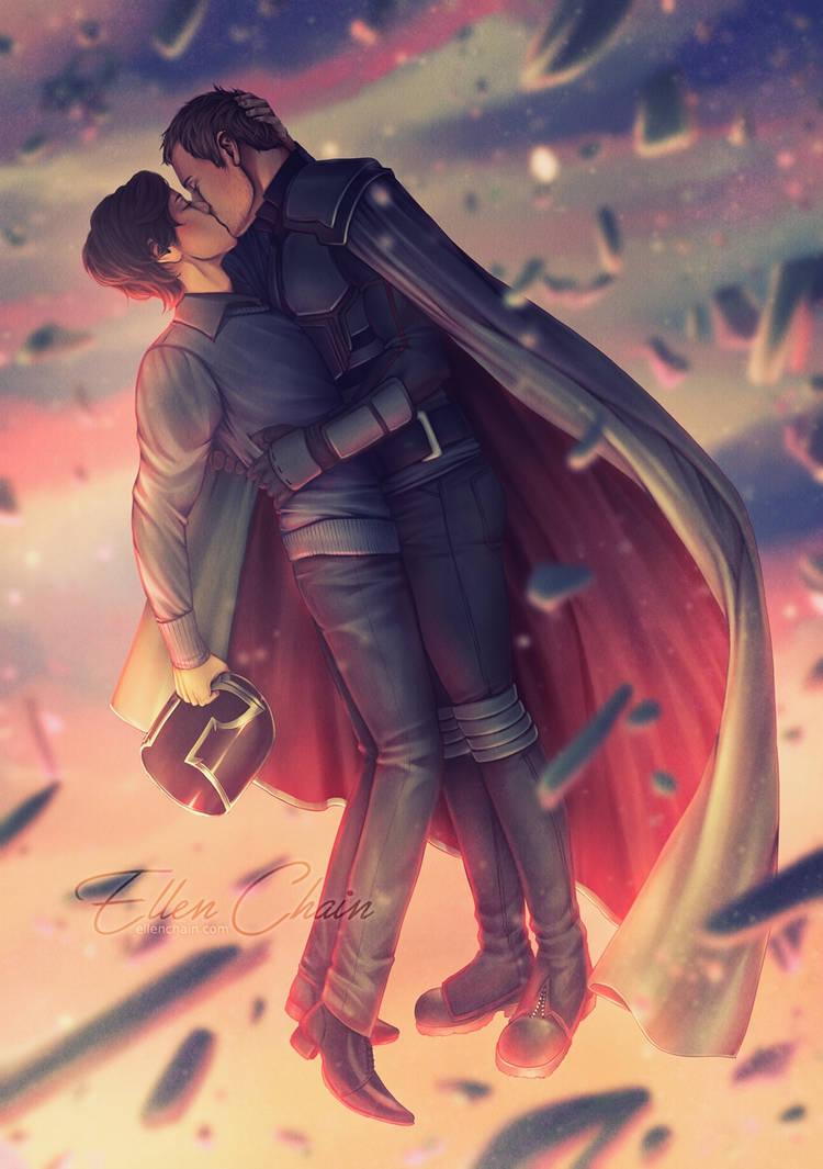 Flying Kiss by ellenchain