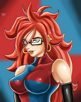 Android 21 dbfz by ZeKKe87