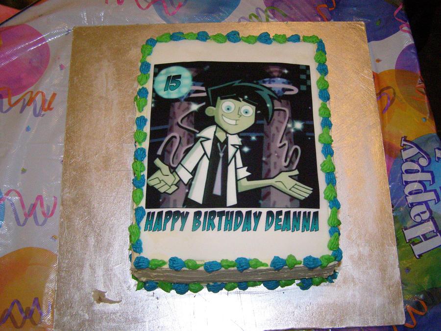 Danny Phantom Birthday Cake by DeannaPhantom13