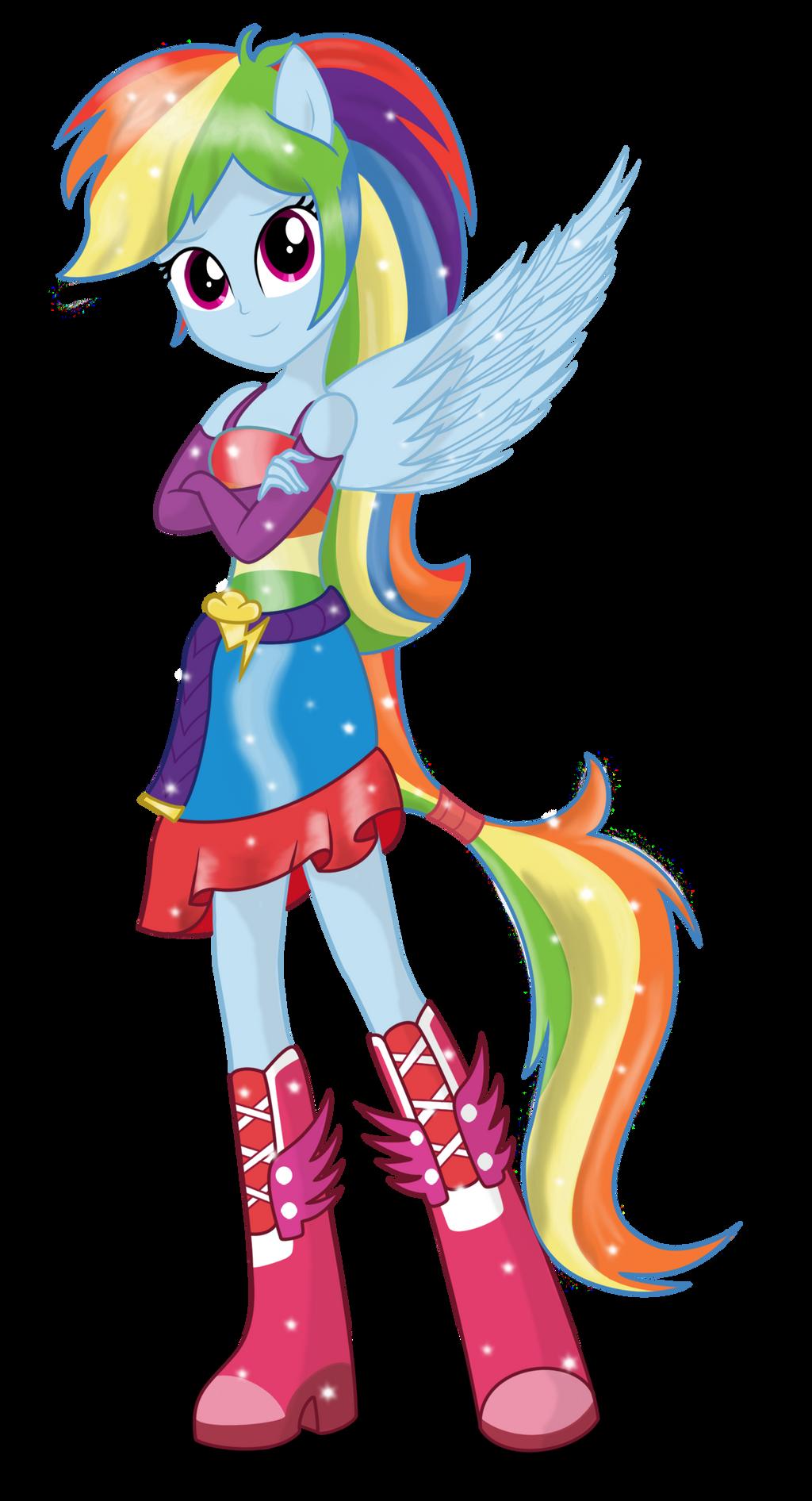 Rainbow Dash (Full Anthro) 200th deviation! by Ambassad0r
