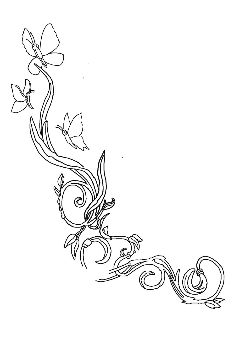 Ankle Flower Tattoo Sketches By Posvibes On Deviantart