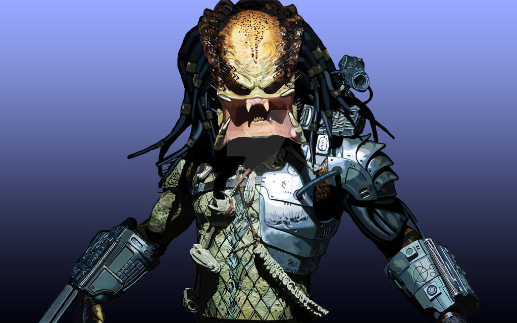 Predator Drawing Complete! by godslittlejoke