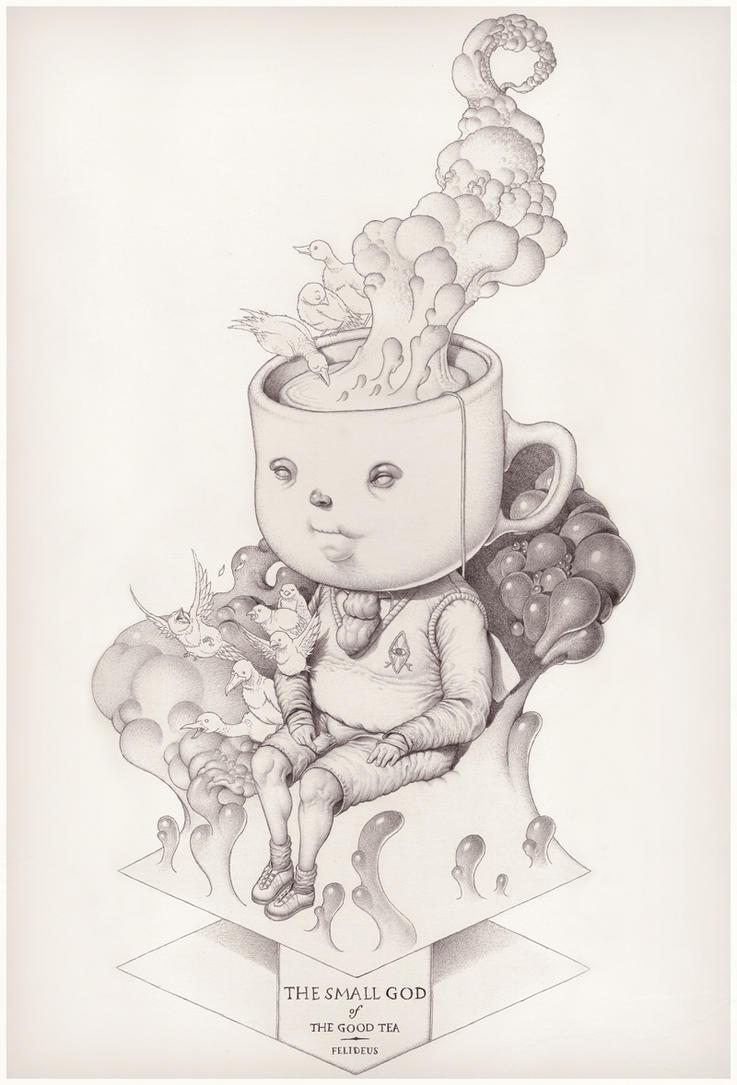 The Small God of the Good Tea by Felideus