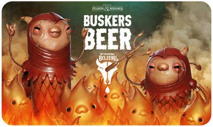 Beer Label 4 by Felideus