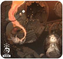 Moonkey II (detail) by Felideus