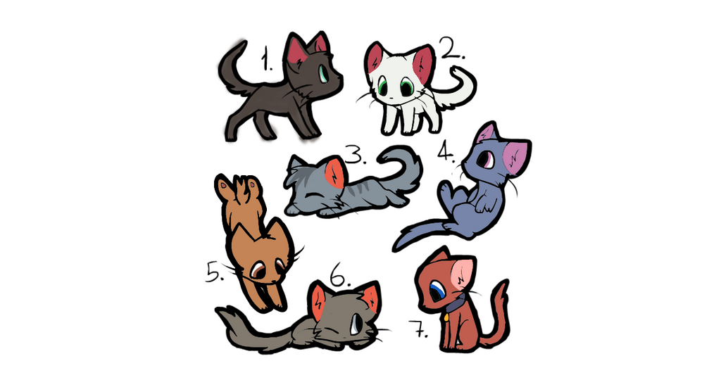 7 adoptables (OPEN) by iamepic10