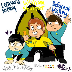 Spock, Kirk, and McCoy tribute