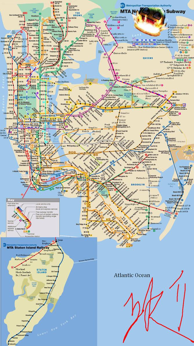 Nyc Fantasy Subway Map.Fantasy Nyc Subway Map V2 By Sfong213768 On Deviantart