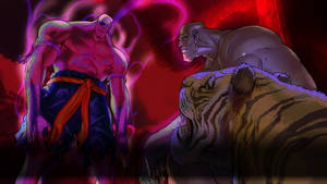 Sagat fights the Evil Intent