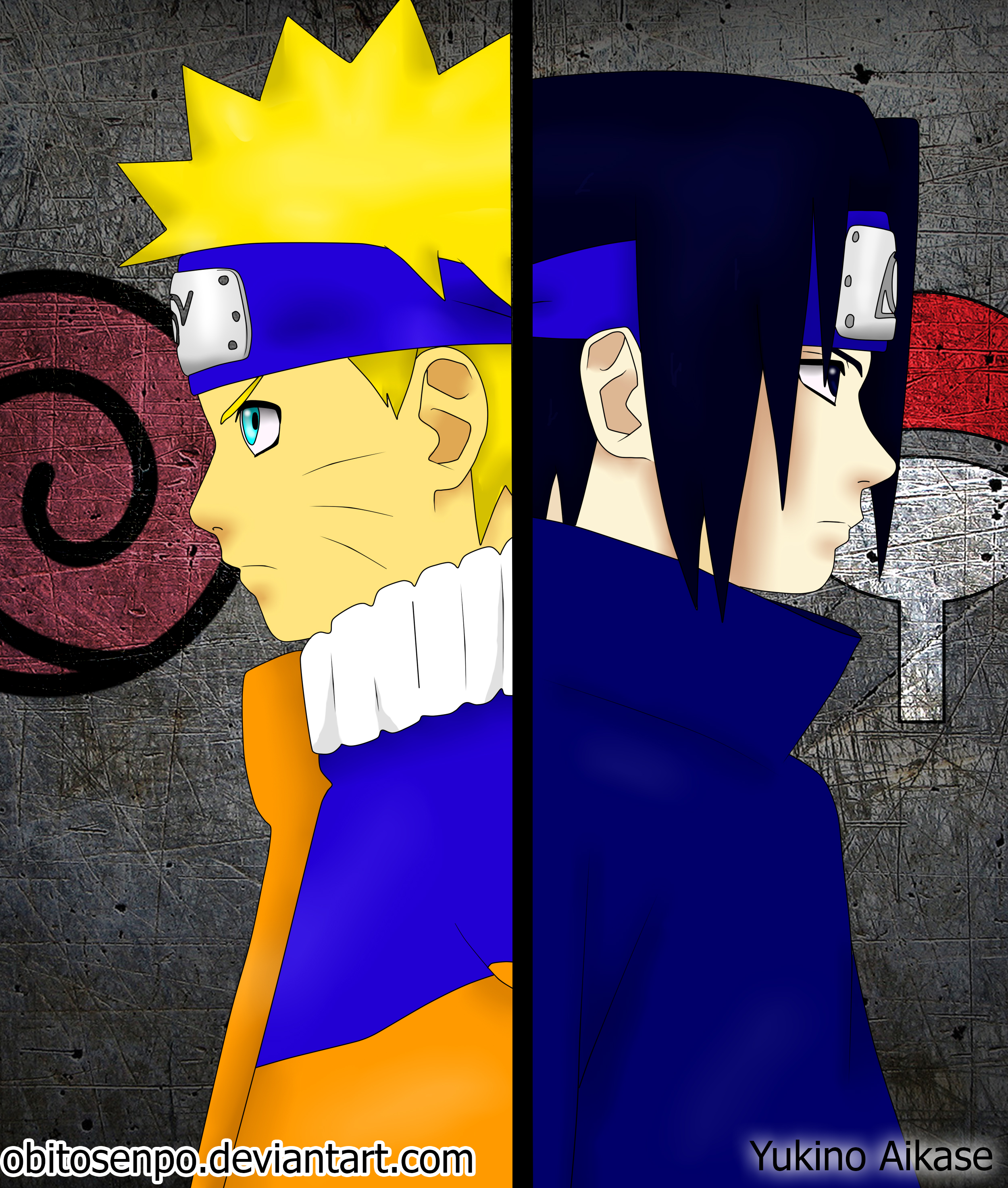 Naruto Uzumaki and Sasuke Uchiha Kids by Obitosenpo on ...