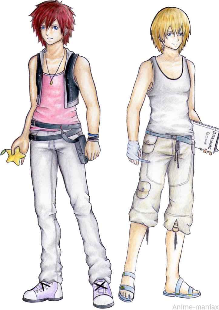 Kingdom Hearts Namine And Kairi Anime male kairi and ...