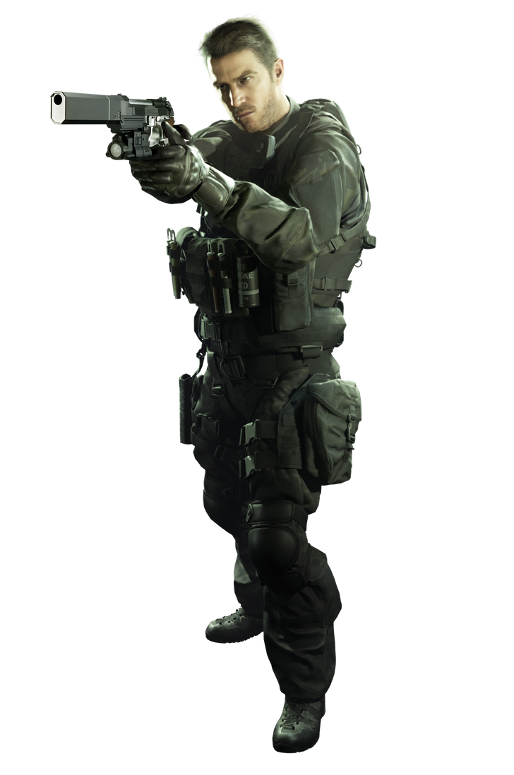 Resident Evil 7 Chris Redfield Ultra HD PNG Render by GamingDeadTv