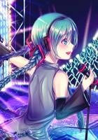 Miku with braids by decimeki
