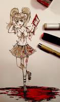 [Inktober 2018]  Bloody Outfit by decimeki