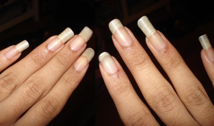 My girlfriend finally cut her nails today, sent me this: : funny