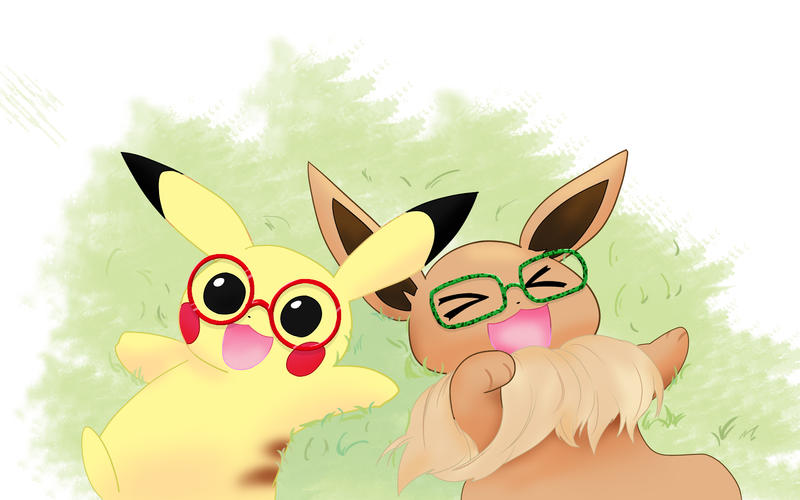 Pikachu and Eevee by treenew on DeviantArt  Pikachu and Eev...