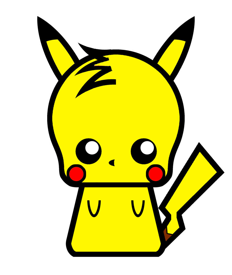 Chibi Pikachu By DrSketch24