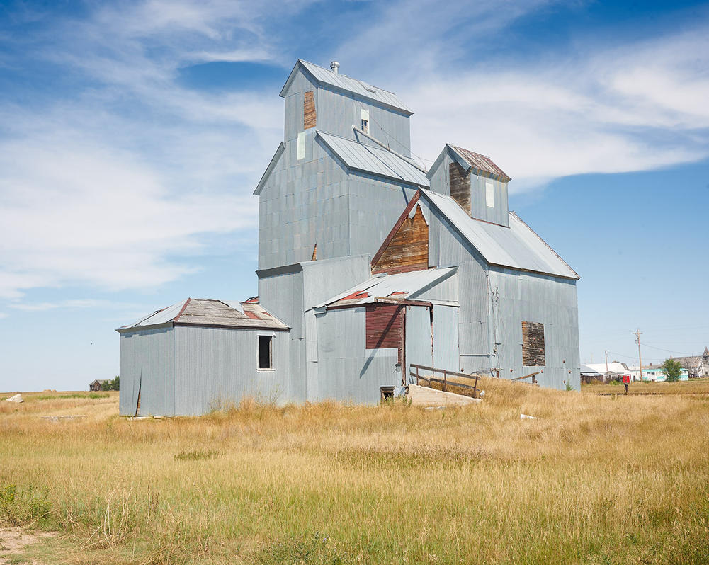 Grain Elevator, Cottonwood, South Dakota by chondrus-crispus