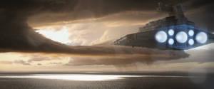 Star Wars - Star Destroyer E - Leaving Kamino