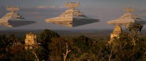 Star Wars - Star Destroyer F - Attack on Yavin 4