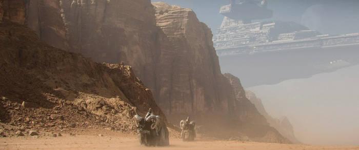Star Destroyer - Tatooine Atmosphere