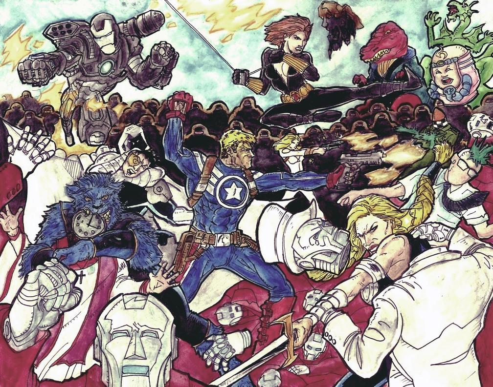 Secret Avengers vs The Beyond Corporation Final by Mathieugeekboy